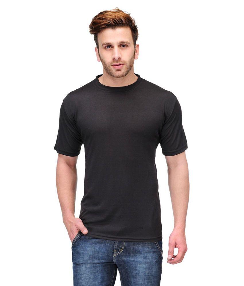 Friskers Black Cotton T-shirt