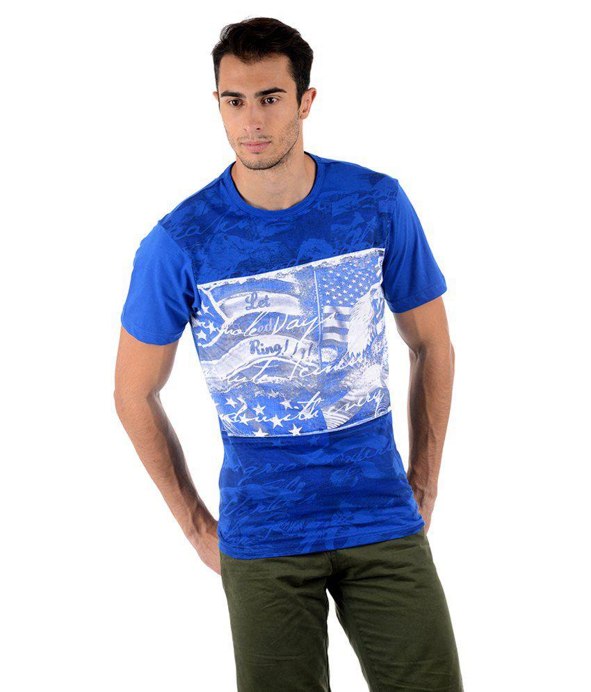 Keywest Blue Cotton T-shirt