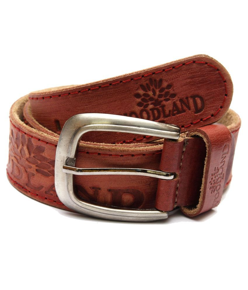 Krazoo Brown Leather Pin Buckle Casual Belt