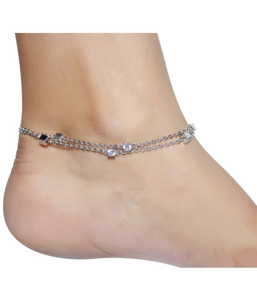Much More Beautiful Charming Design Silver Plated 1 Pair Fashion Anklet For Women Jewelry