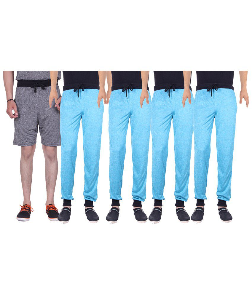 Gag Wear Multicolour Pack of Melange Shorts & 4 Trackpants