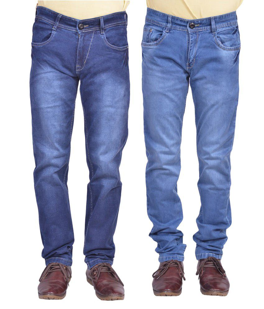 Ignitii Blue Cotton Blend Jeans