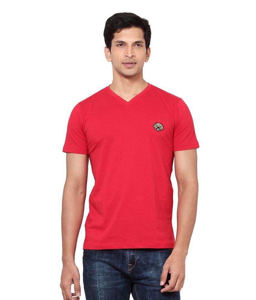 L.A. Seven Red Cotton T-shirt