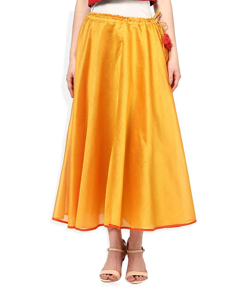 5ecf9601c9 Buy Biba Yellow Skirt Online at Best Prices in India - Snapdeal