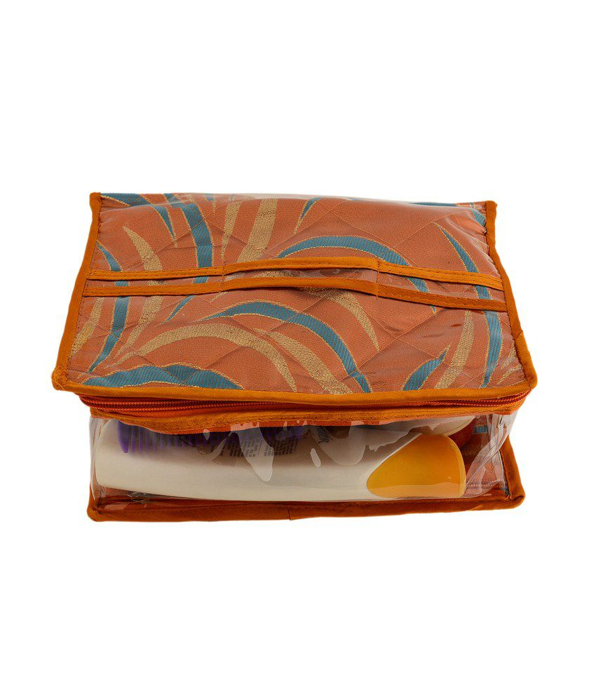 Kitsandpouches Multicolour Plastic And Tissue Makeup Box