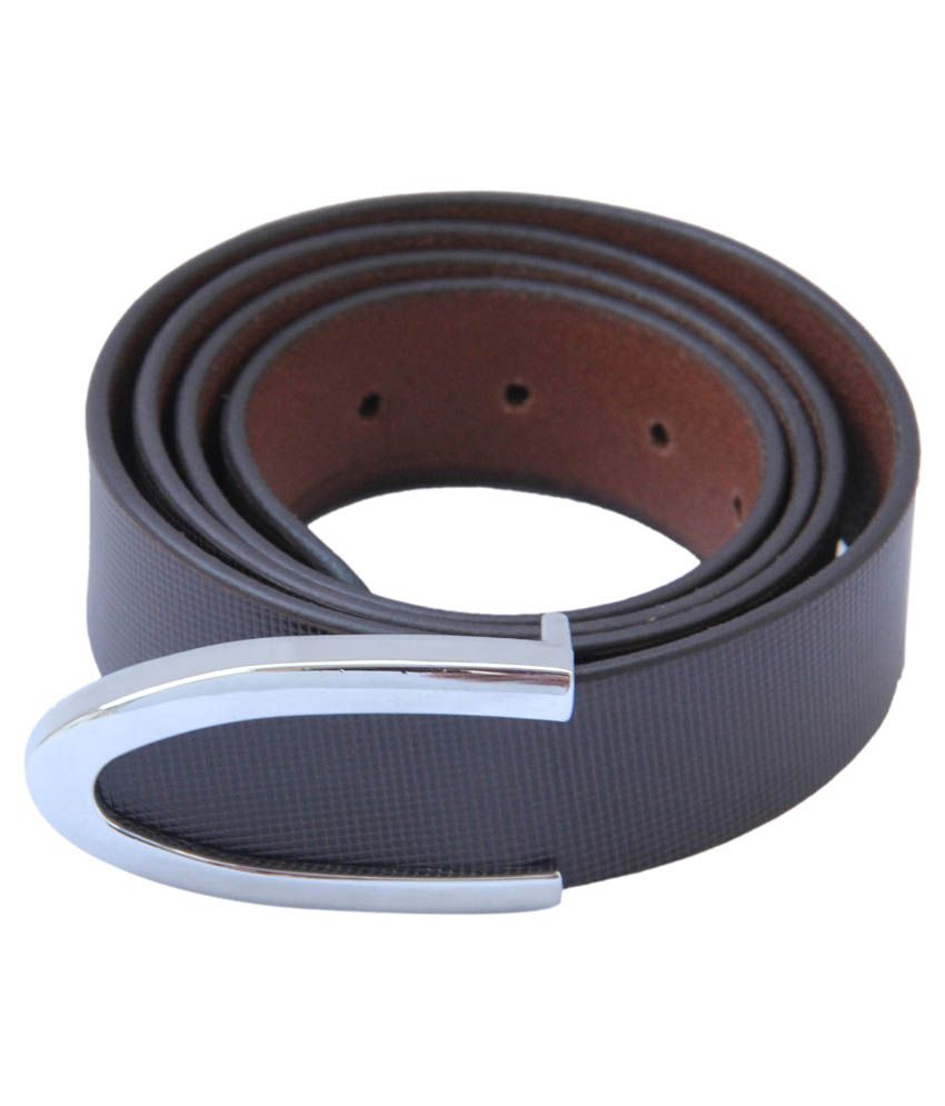 L.world's Brown Leather Formal Belt