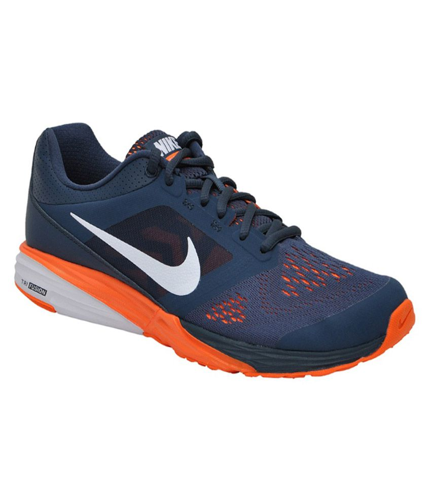 Orange And Navy Running Shoes