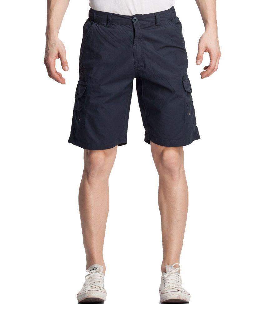 Beevee Navy Cotton Shorts