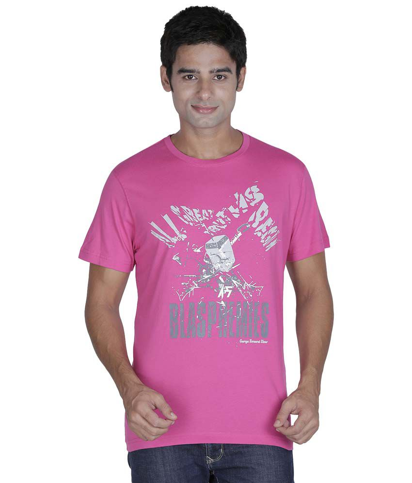 Element Of Humanity Pink Cotton T-shirt