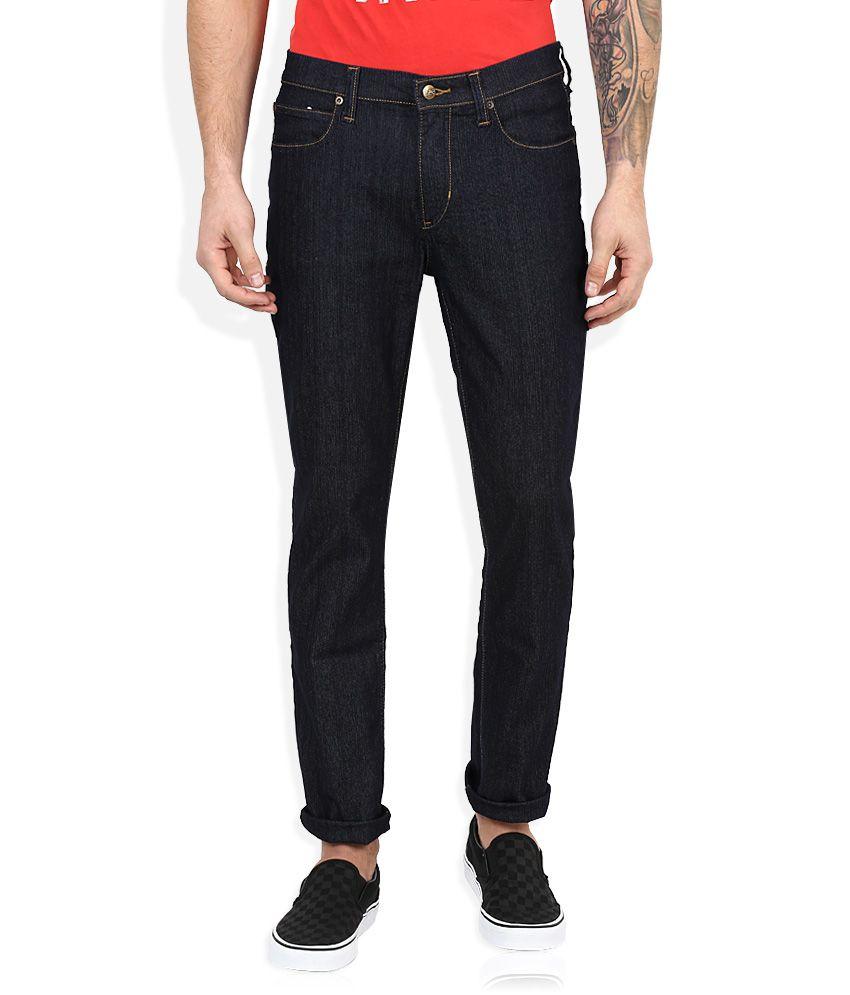 Lee Blue Raw Denim Slim Fit Jeans