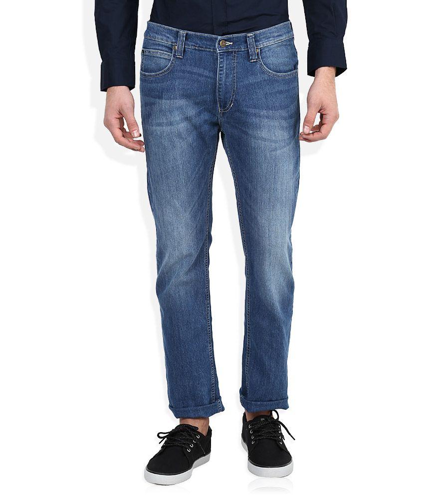 Lee Blue Medium Wash Slim Fit Jeans