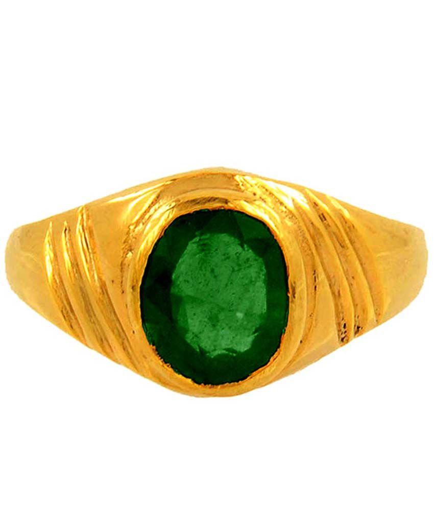 Siri Gold Green Stoned 9kt Gold Ring