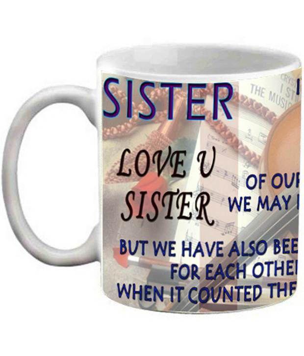 efw happy birthday love you sister 325ml ceramic coffee mug