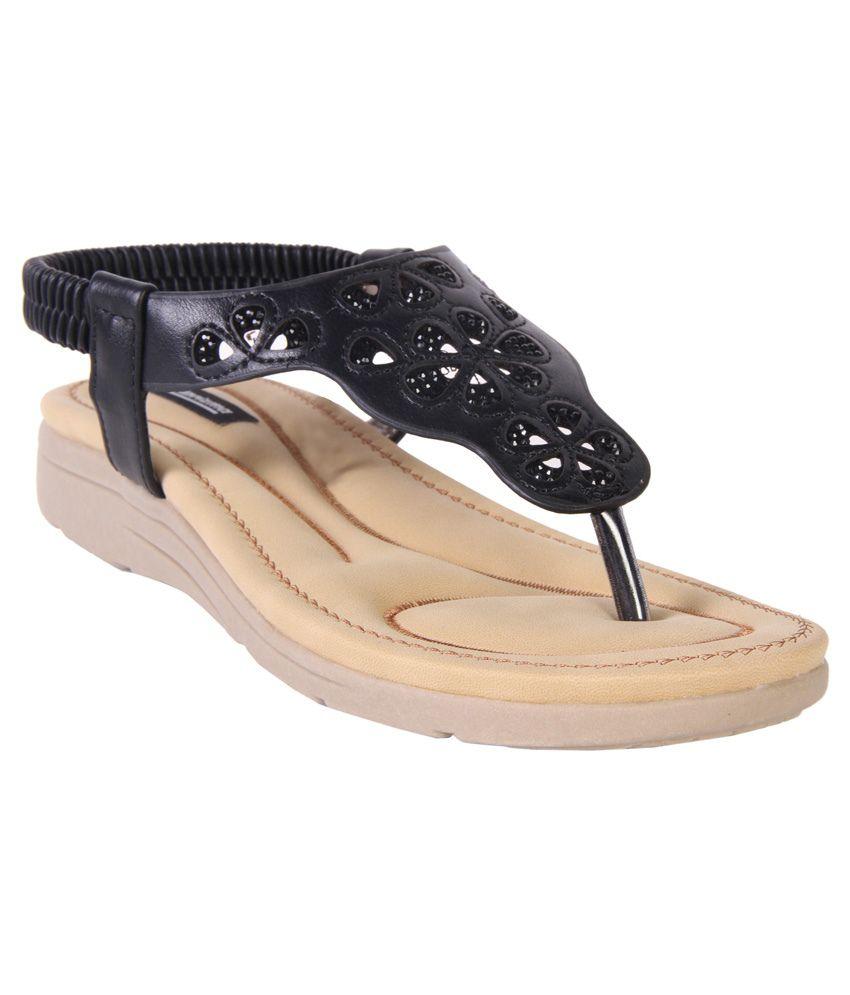 Karizma Black Heeled Sandals