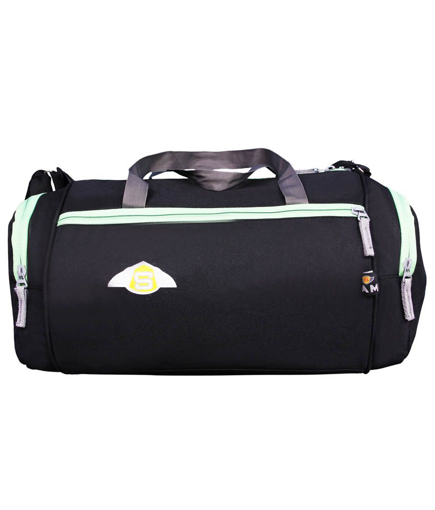 Sami Black Polyester Gym Bag