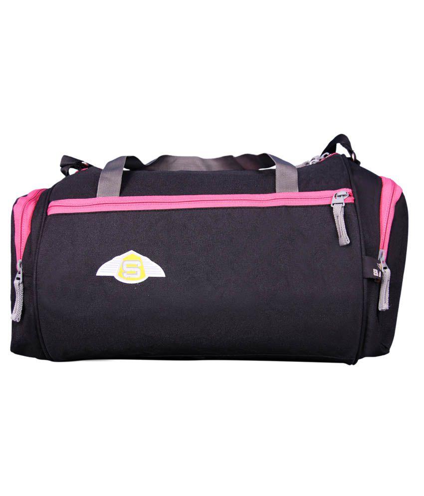 Sami Black Polyester Gym Bag