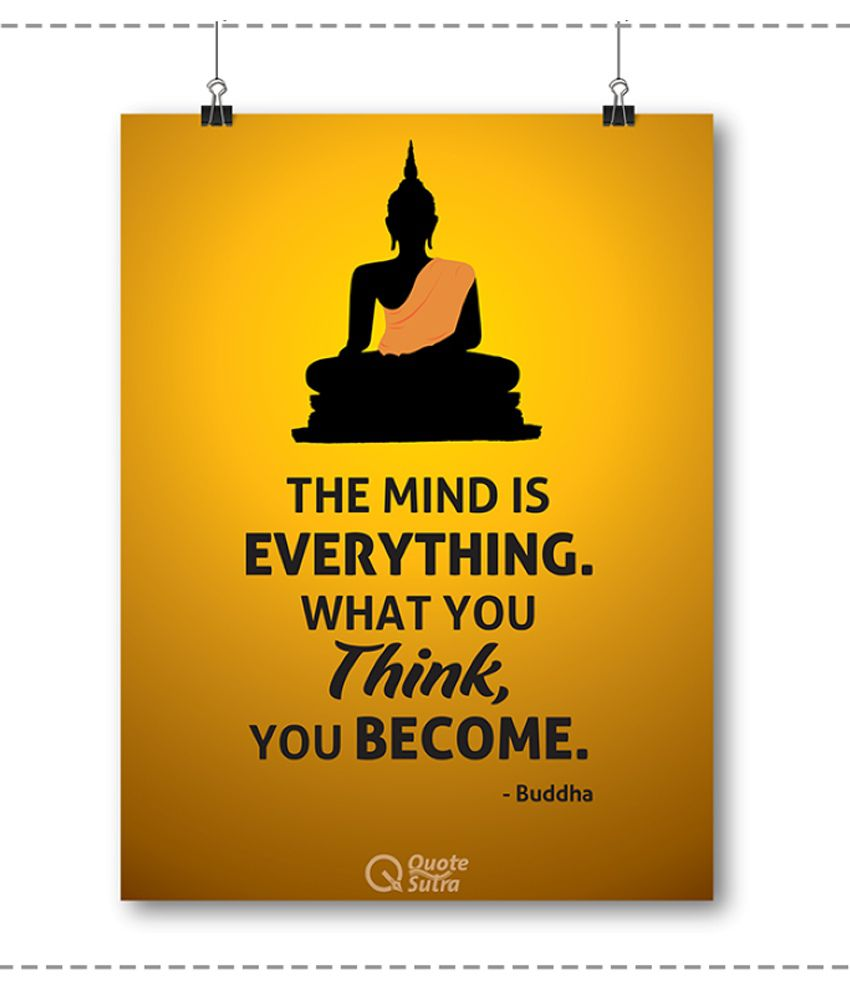 QuoteSutra Buddha Quote Paper Wall Poster Without Frame