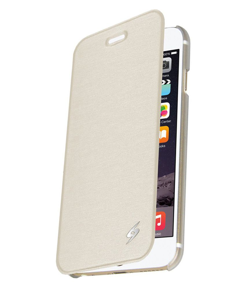 competitive price 3594f 3d5ee Amzer Flip Case - White for iPhone 6s Plus, iPhone 6 Plus