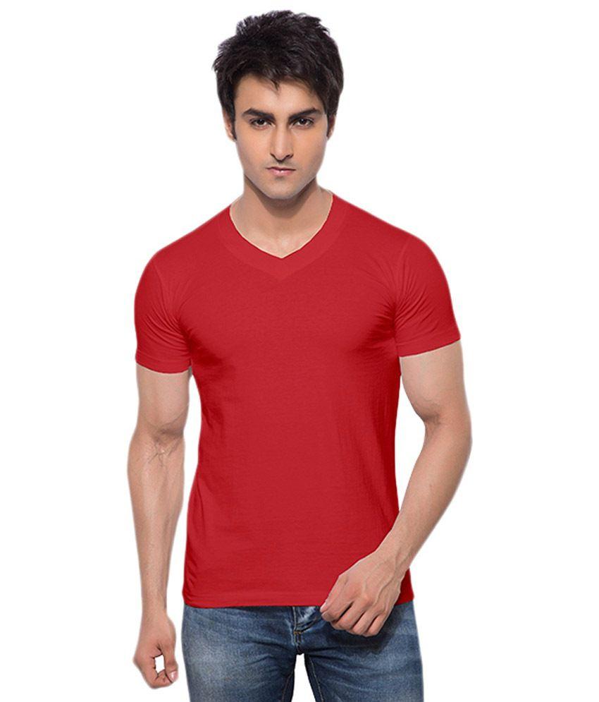 Chakra Red Cotton T-shirt