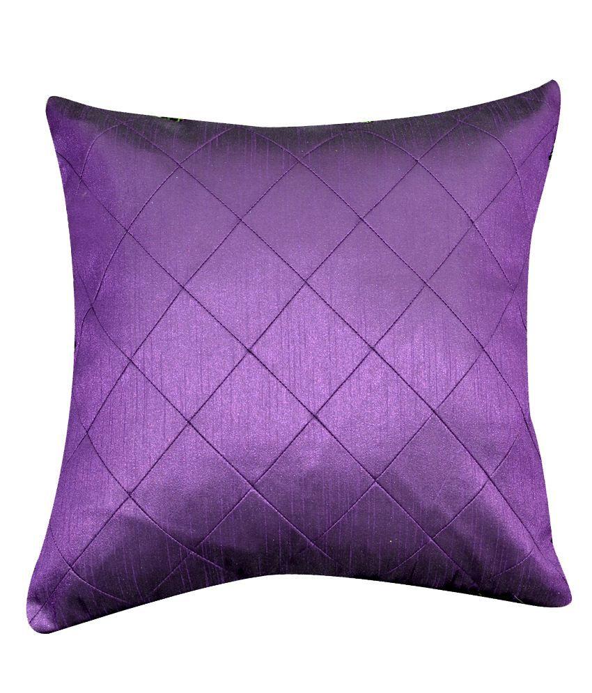 CushionCasa Purple Plain Cushion Cover