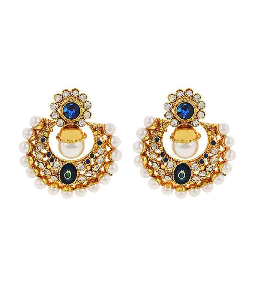 Jwells & More Golden Alloy Drop Earrings