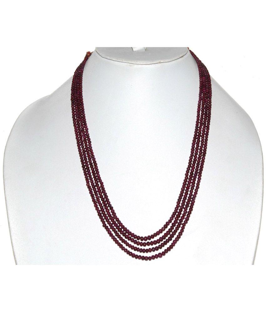 KCJ Colour Spark 18Kt Ruby Necklace