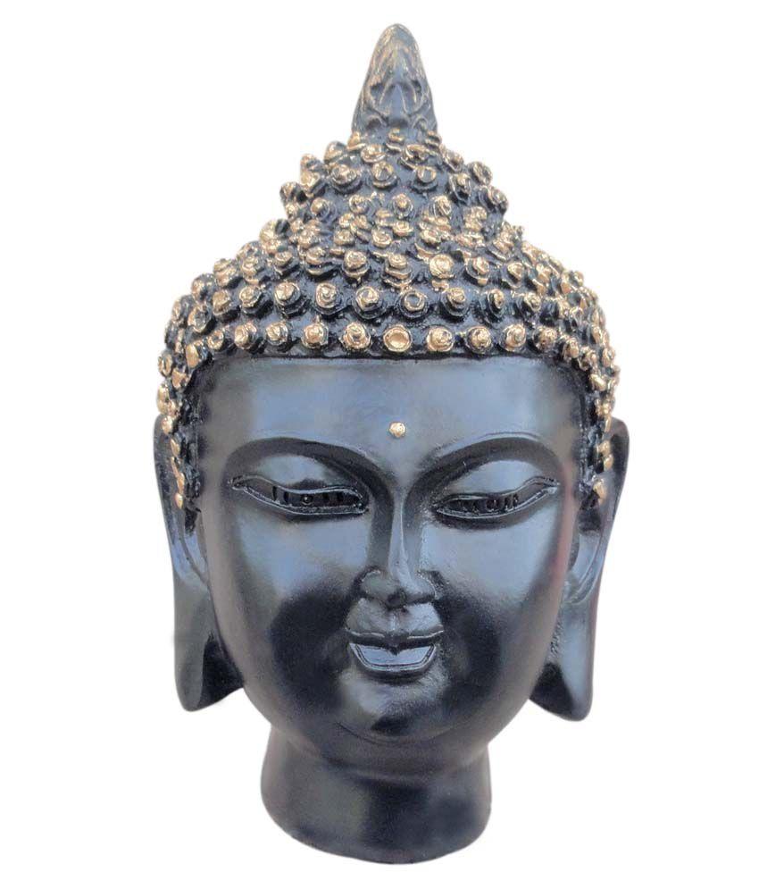 Tiedribbons Buddha Face Statue