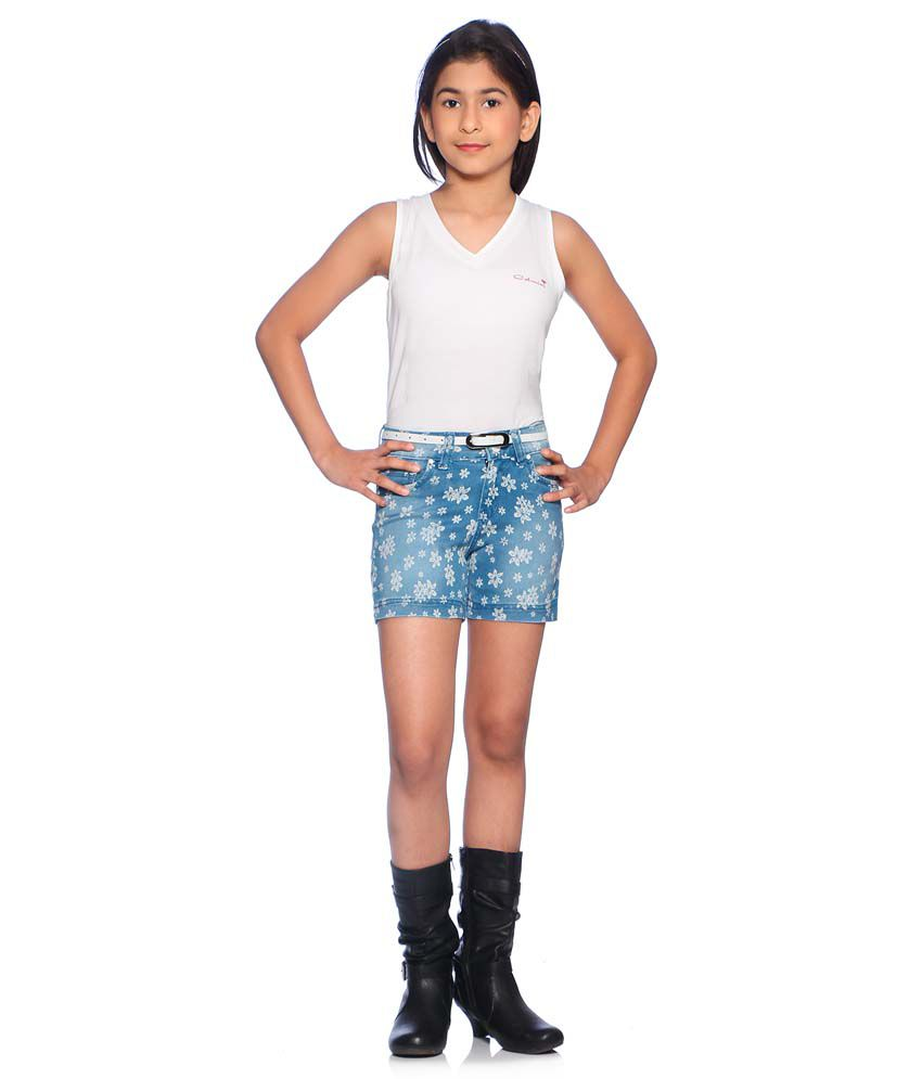 Clench Blue Shorts For Girls