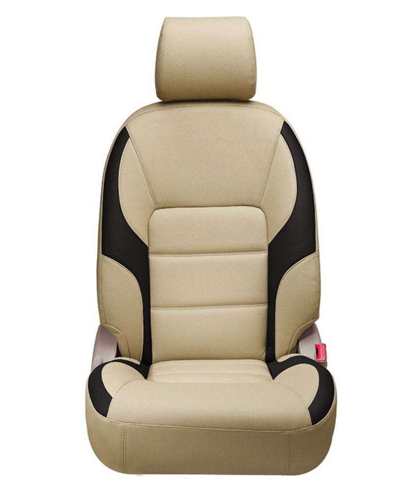Jsk Creation Beige Leather Car Seat Cover For Ford Figo