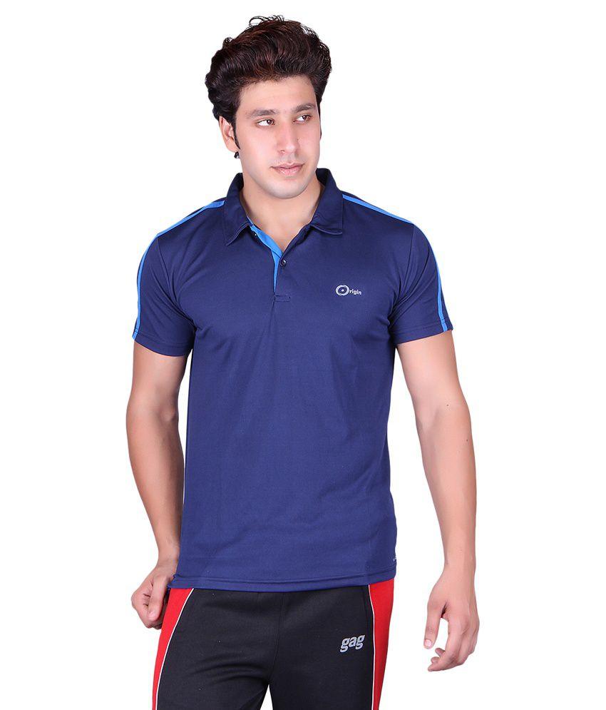 Originsport Blue Sports Wear Polo T-Shirt