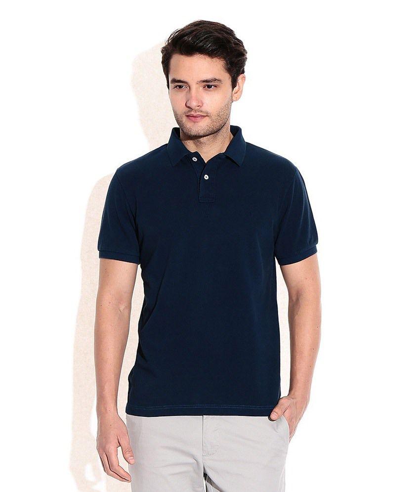 TND Navy Cotton Polo T Shirt