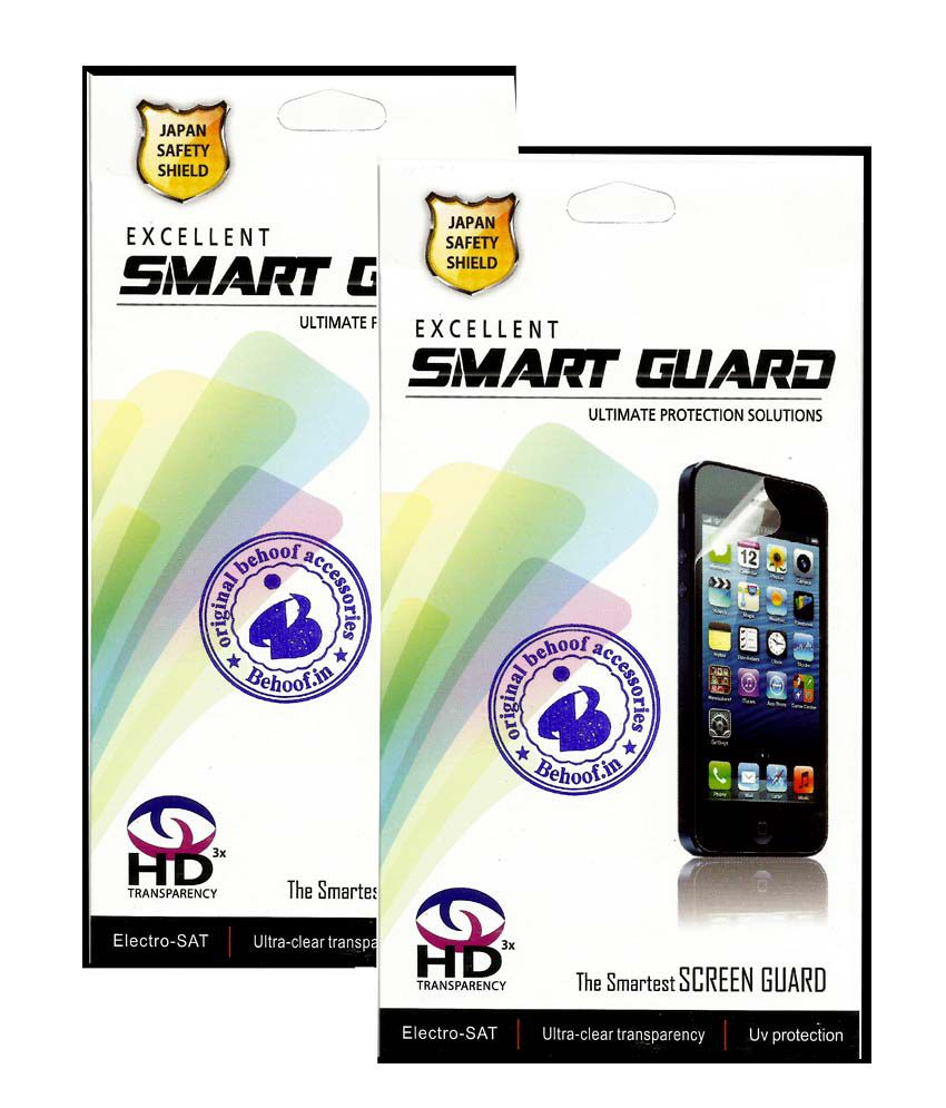 Behoof Clear Screen Guard For Htc Desire 516 - Pack Of 2