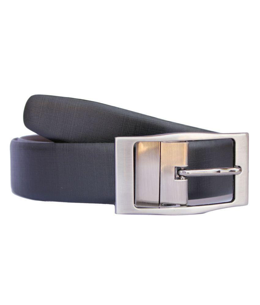 Discover Fashion Black Reversible Formal Belt For Men