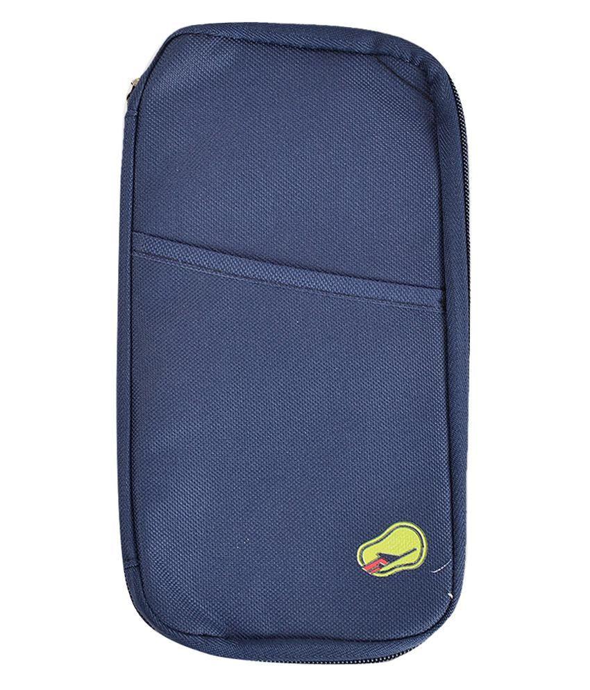 Melbon Passport Pouch/ Passport Wallet Cum Holder - Ferozi Blue
