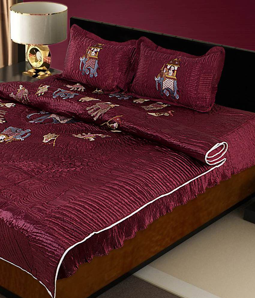 Awesome Renown Pink Satin Embroidery Bed Sheets ...