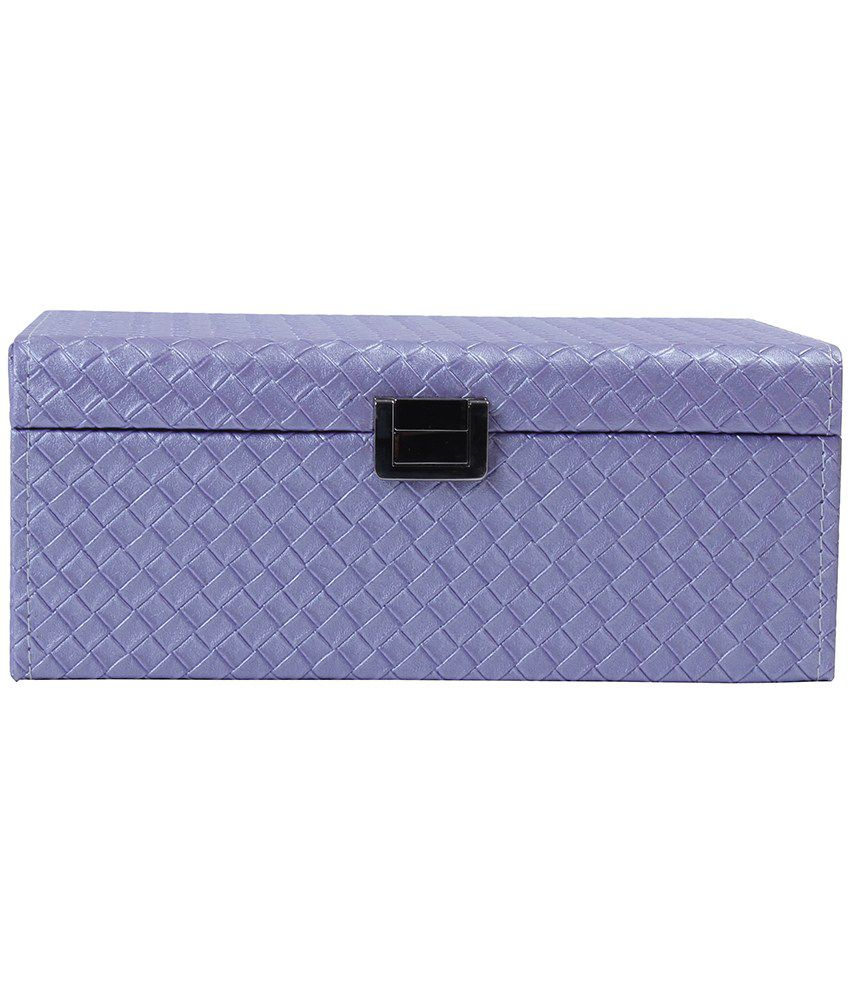 UberLyfe Purple Double Level Jewellery Box