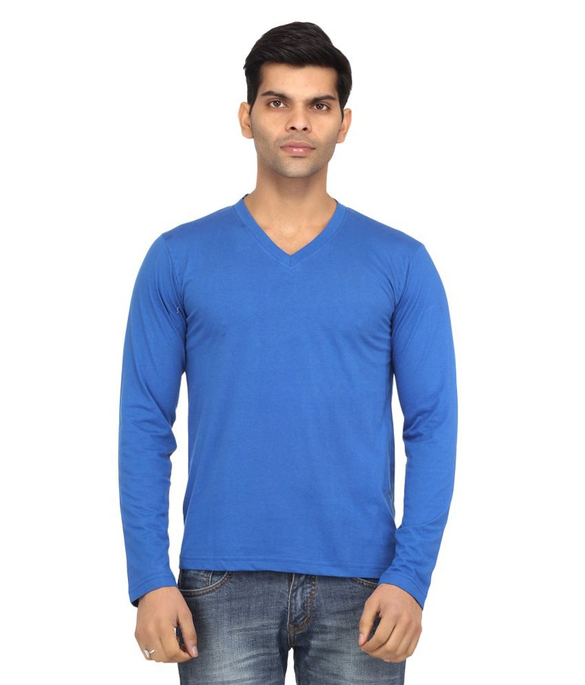 Alley Brothers Blue Cotton T-shirt