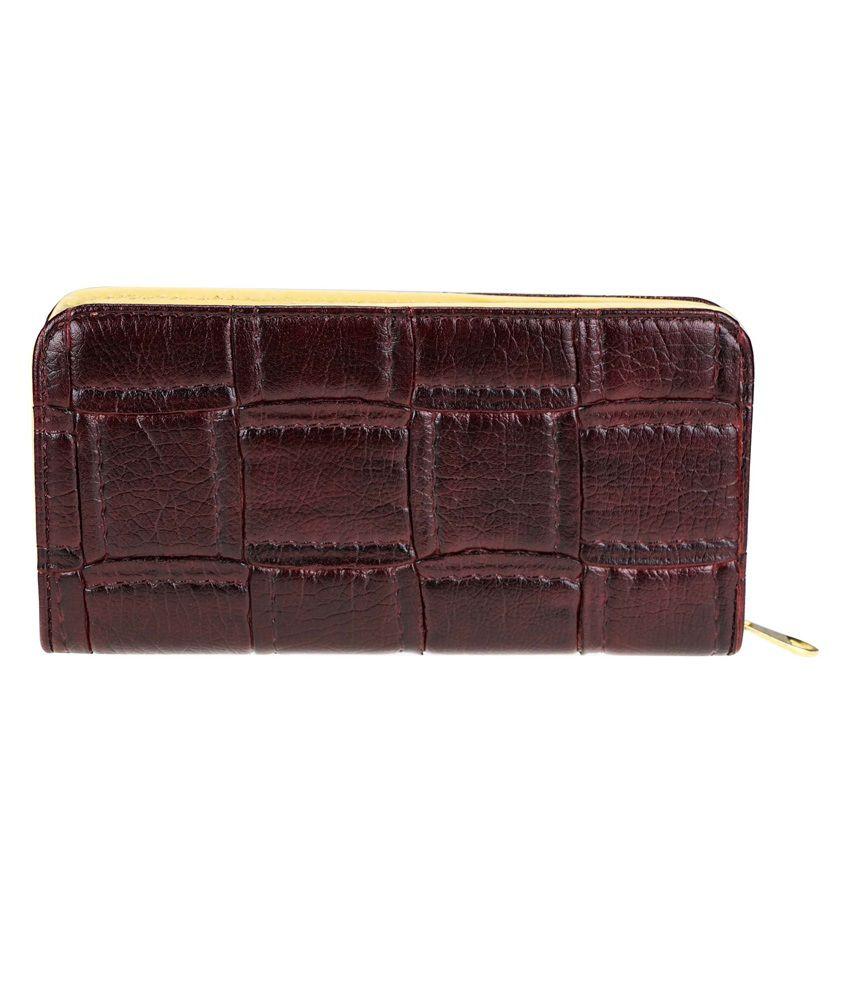 Genious Maroon Formal Wallet