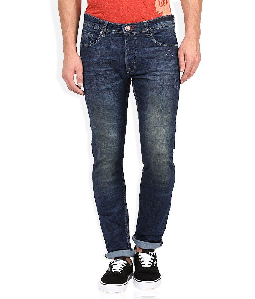 Being Human Blue Medium Wash Slim Fit Jeans