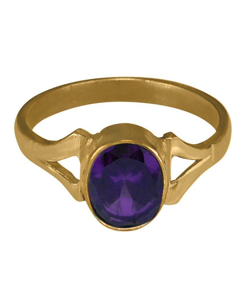 ASIAN GEMS & JEWELS Panch Dhaatu Cultured Amethyst / Kathela Gemstone Finger Ring - 1.25 Ratti