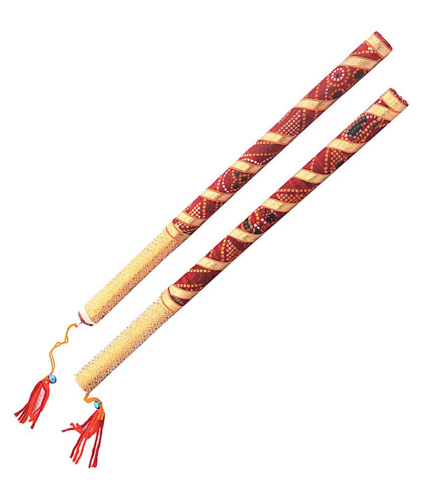 Indiangiftemporium Glossy Wooden Dandiya Sticks Buy