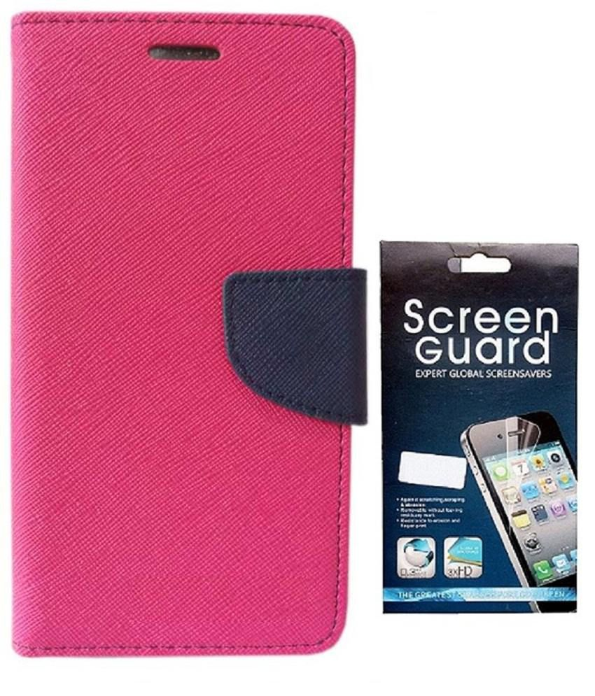 RDcase Flip cover with Screen Guard For Samsung Galaxy S3 / s3 Neo i9300 - Pink