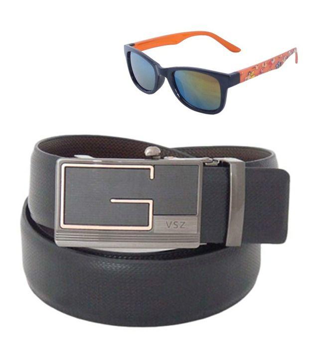 Sfa Black Reversible Formal Belt For Men