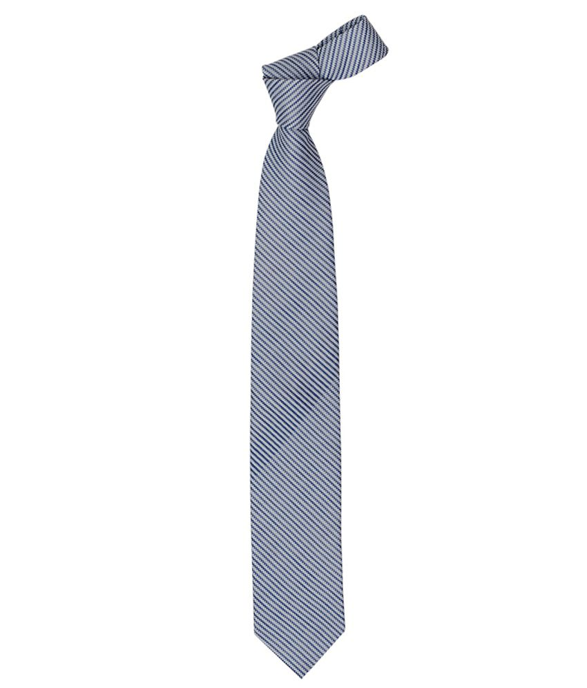 Vermello Blue Zig Zag Formal Broad Tie