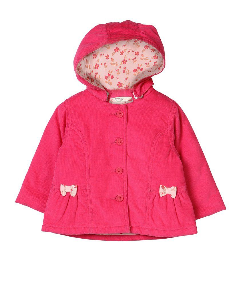 Beebay Pink Cotton Winter Jacket