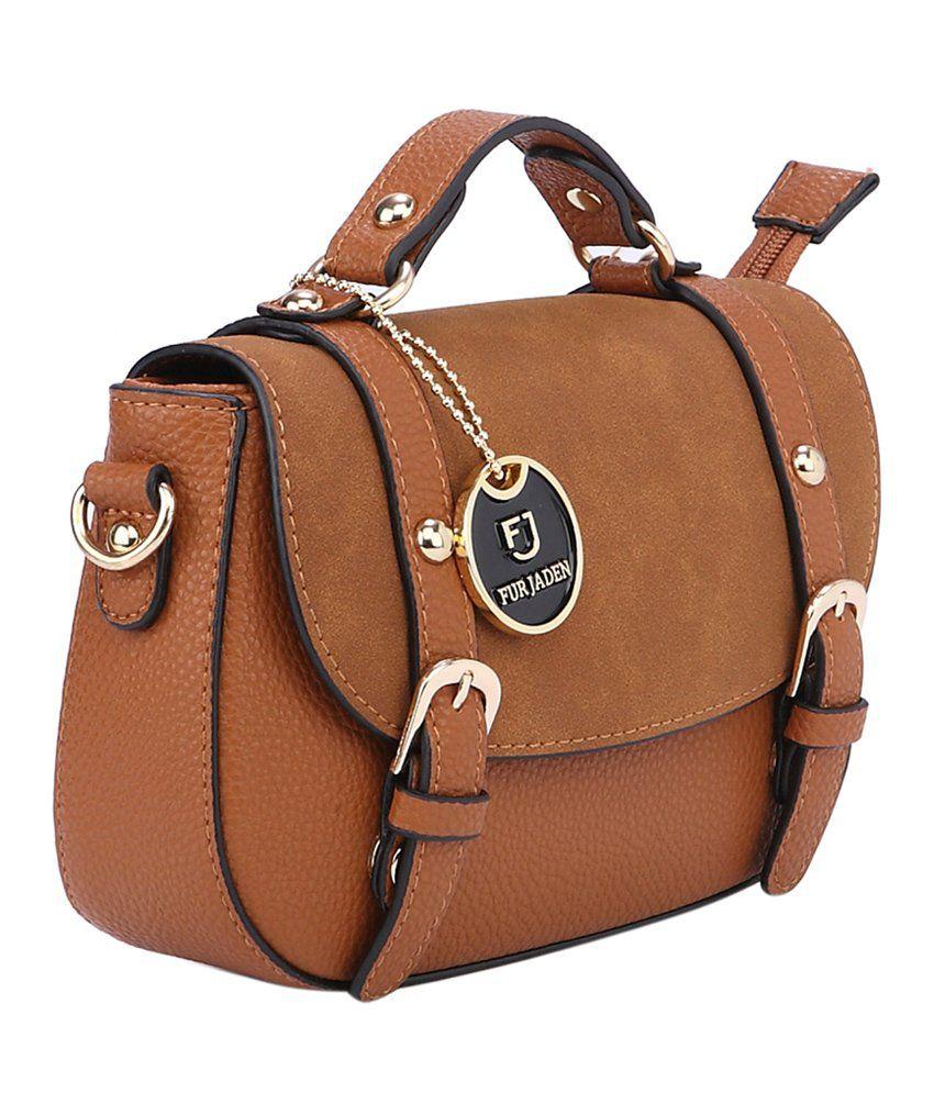Fur Jaden Brown Sling Bag - Buy Fur Jaden Brown Sling Bag Online ...