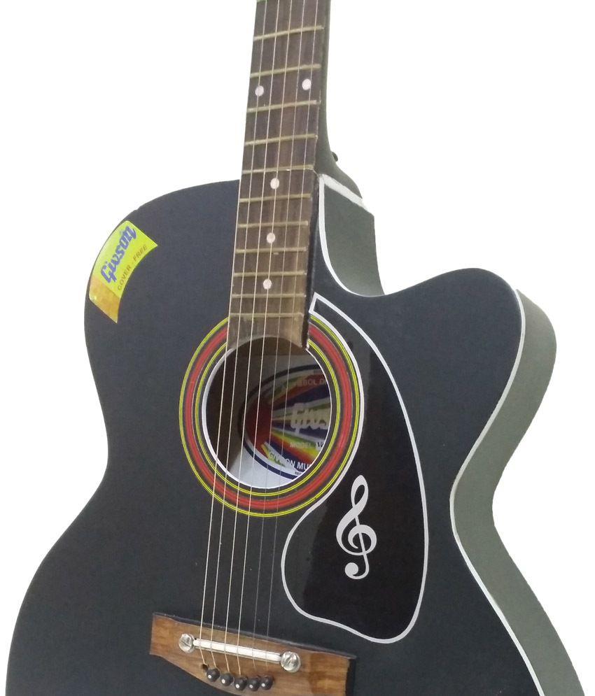 givson black acoustic guitar buy givson black acoustic guitar online at best prices in india. Black Bedroom Furniture Sets. Home Design Ideas