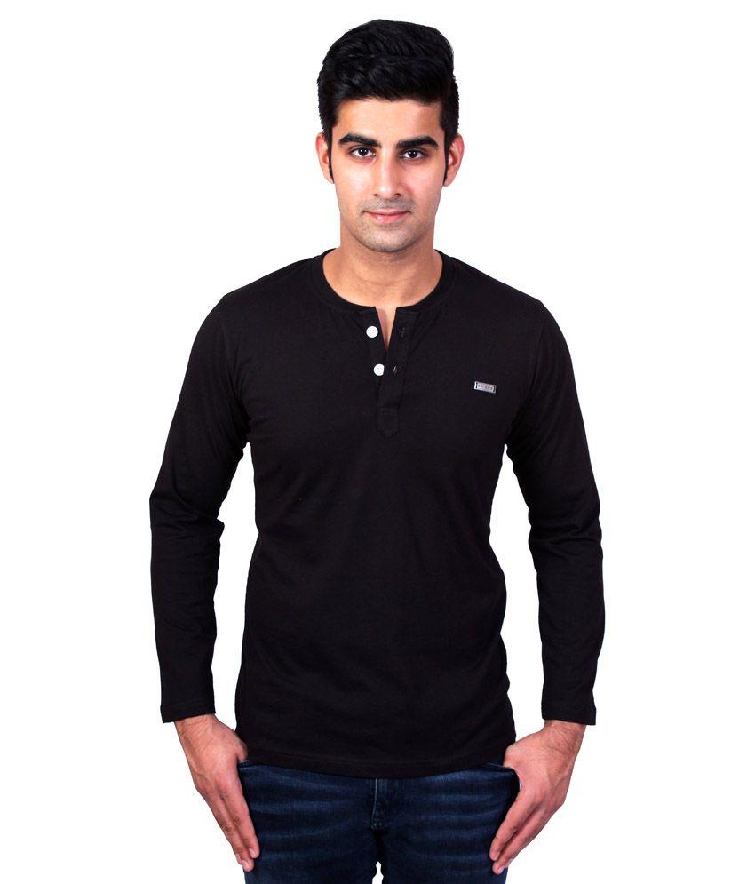 Bridge Black Cotton T-Shirt