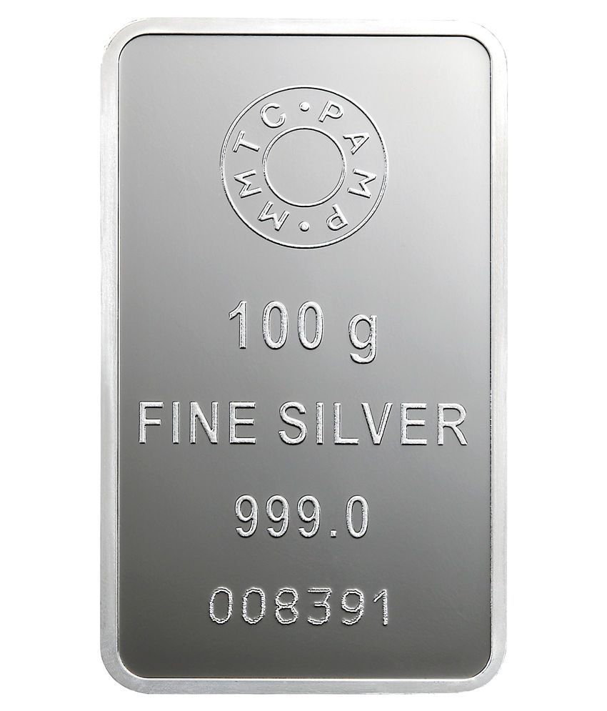 Mmtc Pamp Silver Bar Of 100 Gram In 999 Purity
