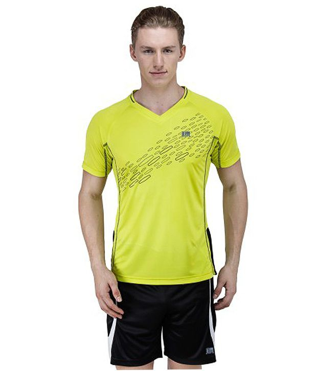 T10 Sports Yellow Micro Lite Tempo Jersey